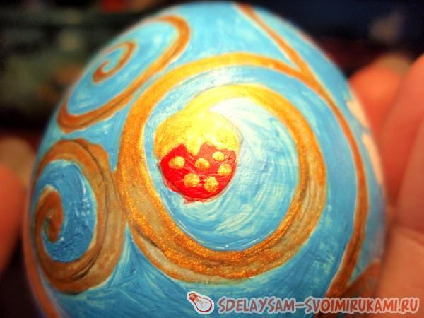 Painting a Wooden Egg