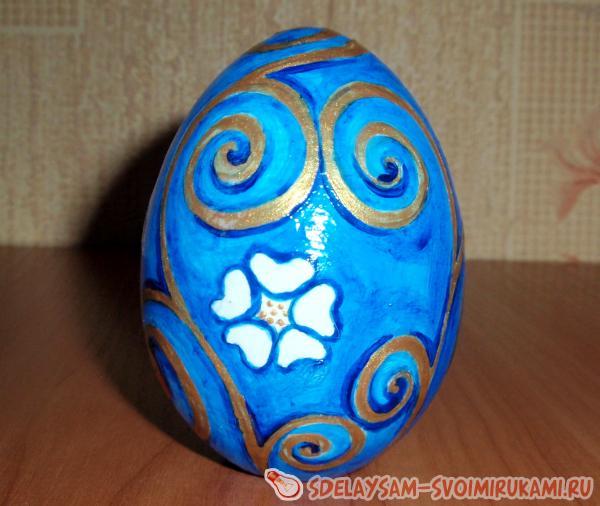 Роспись деревянного яйца