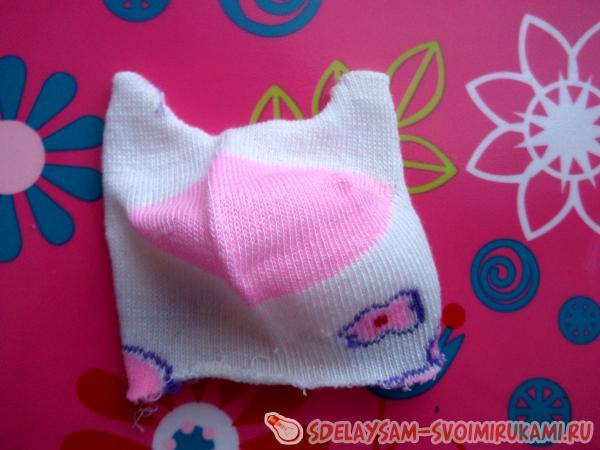 Fragrant cat sock