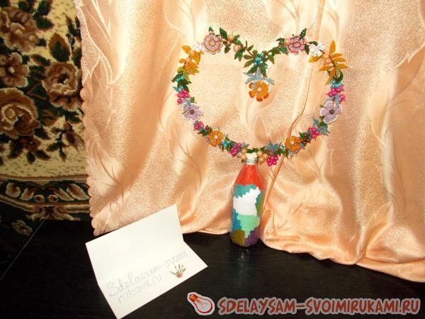 Объемное сердце из бисера: мастер-класс