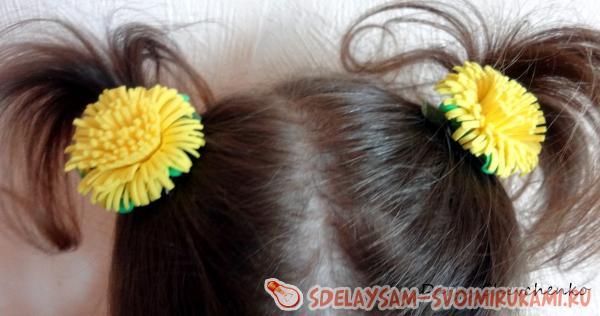 заколка для волос Одуванчики