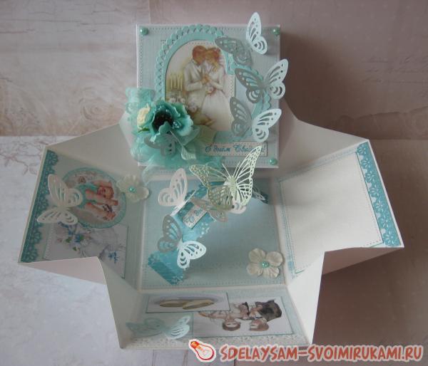 Раскладная коробка С Днем Свадьбы