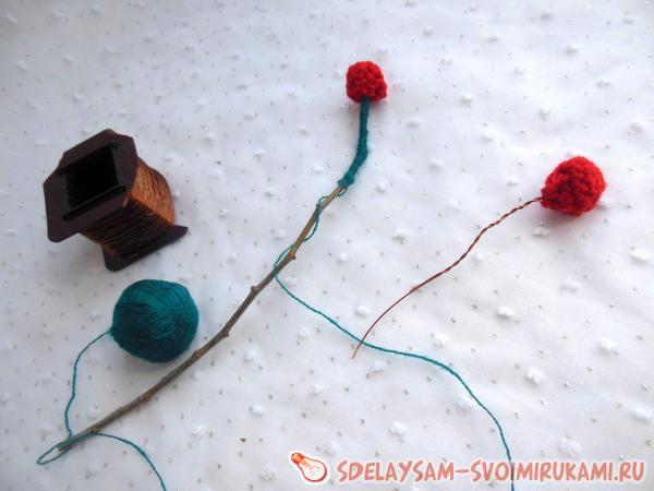Decorative crochet flowers