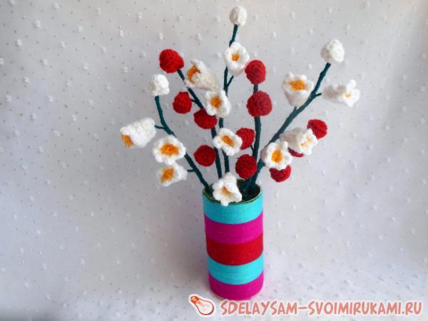 Декоративные цветы вязание крючком