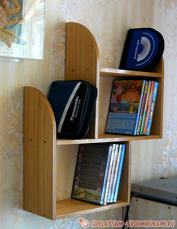 Three-story shelf