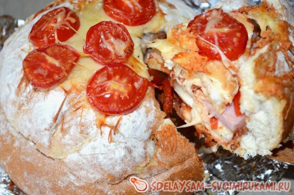 stuffed pizza bread