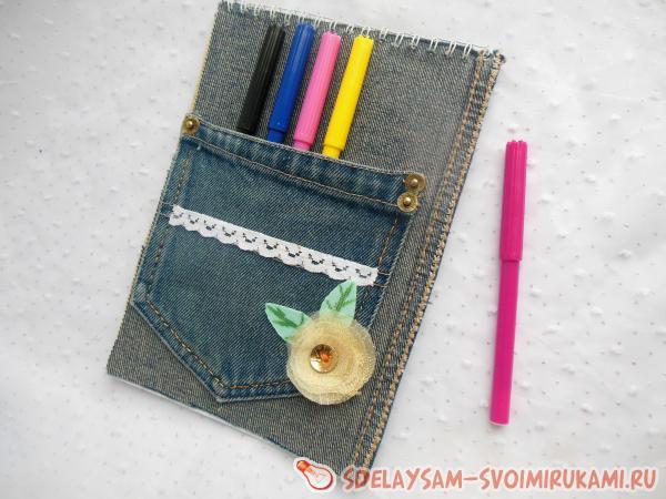Блокнот с джинсовой отделкой