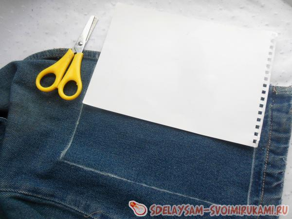 Notebook with denim trim