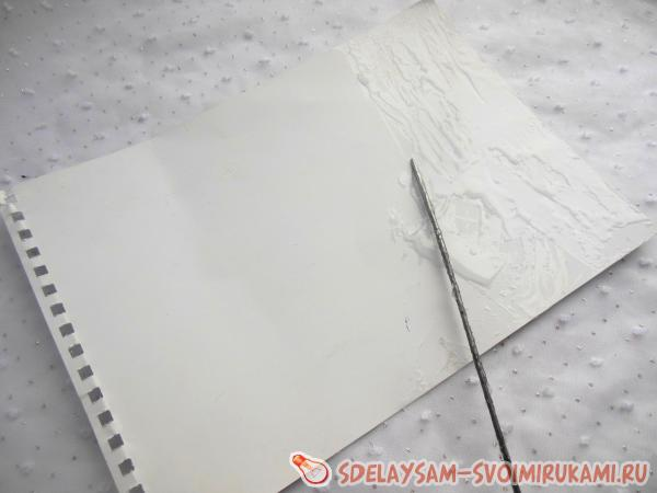 Notebook with jeans trim
