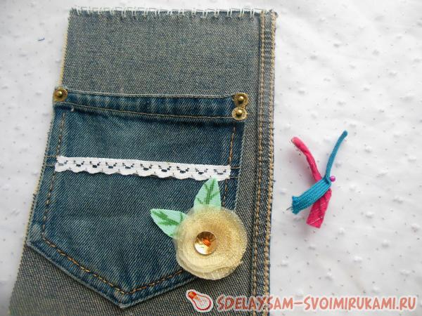 Notebook with denim finish