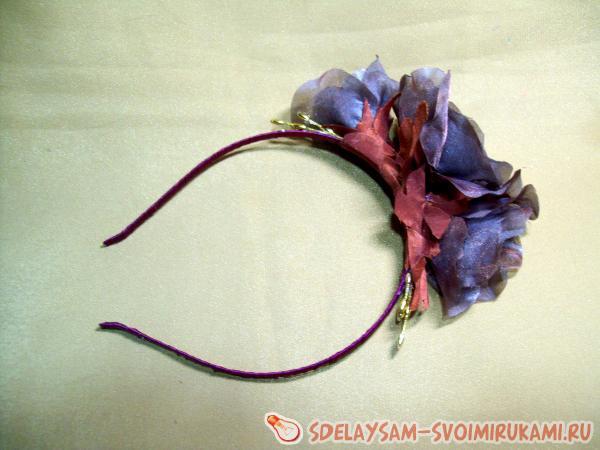 ободка Вечер с цветами из шифона