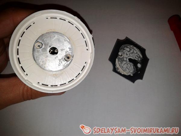 Как разобрать и отремонтировать лампу