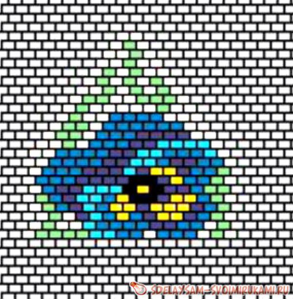 Серьги анютины глазки
