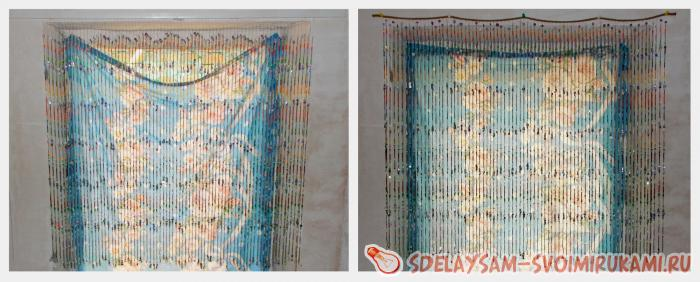 Занавески из бисера своими руками фото 777