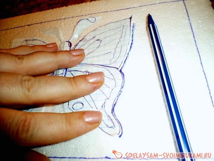 Пэчворк без иголки кинусайга Бабочка