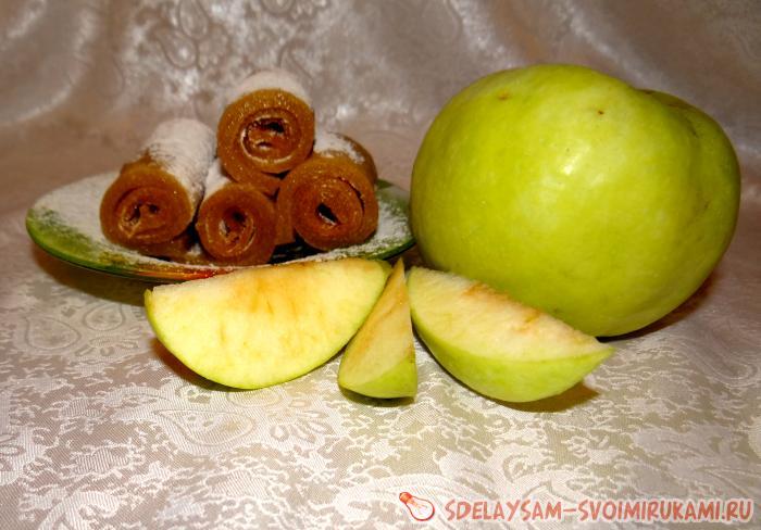 Яблочная пастила ручной работы