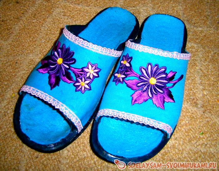 How to make slippers from slaps