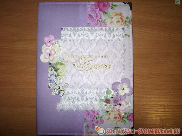 Folder for a marriage certificate