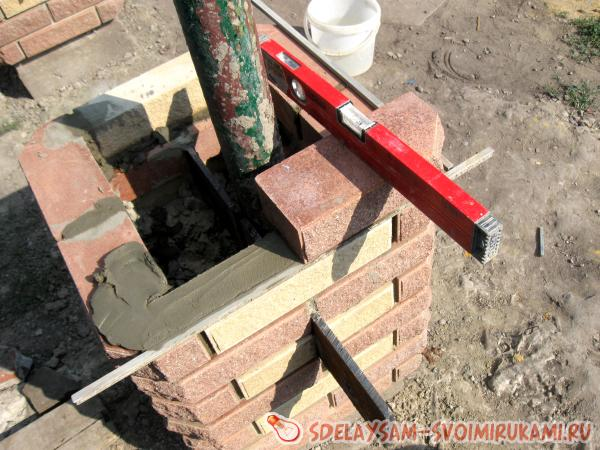 Building a brick fence