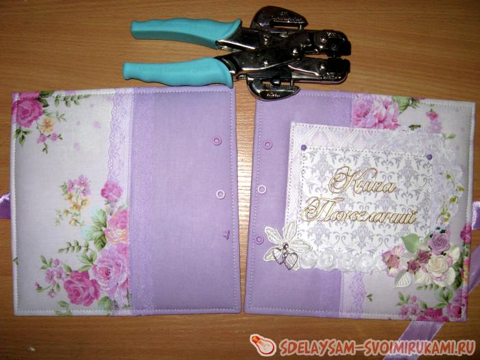 Album book of wishes for a wedding