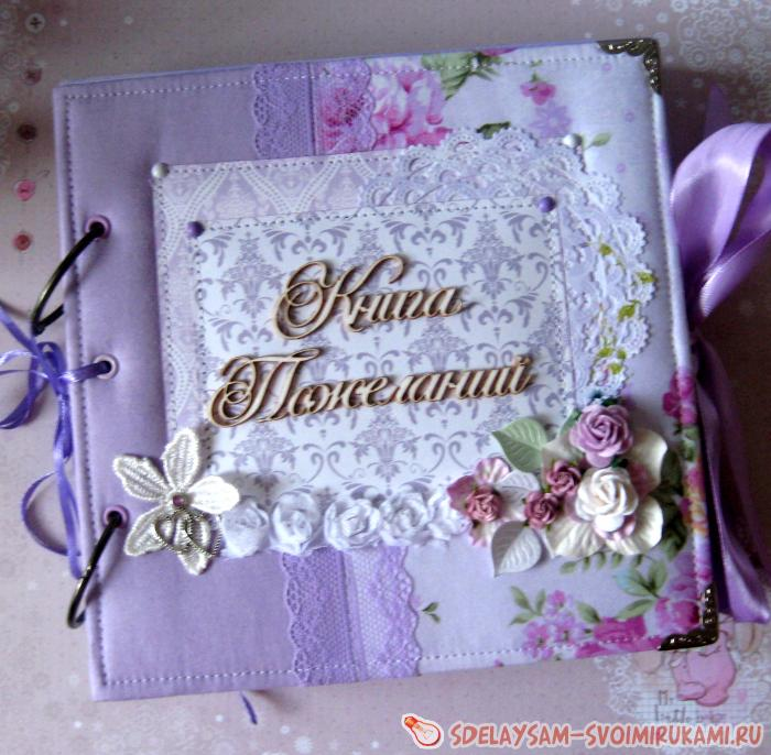 Album book of wishes for the wedding