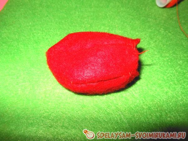 Как сшить яблоко из фетра