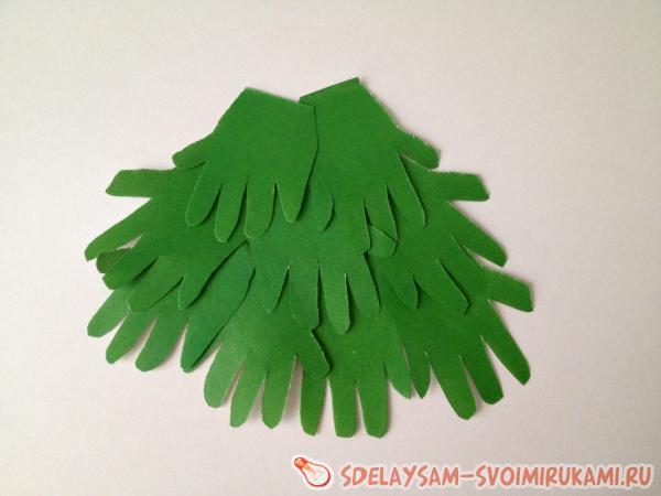 Как сделать новогоднюю елочку из бумаги