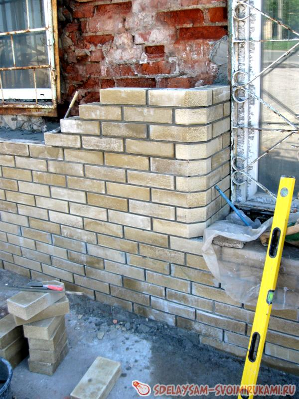 Bricklaying facing brick