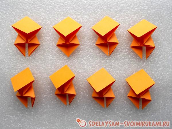 Модульный цветок оригами