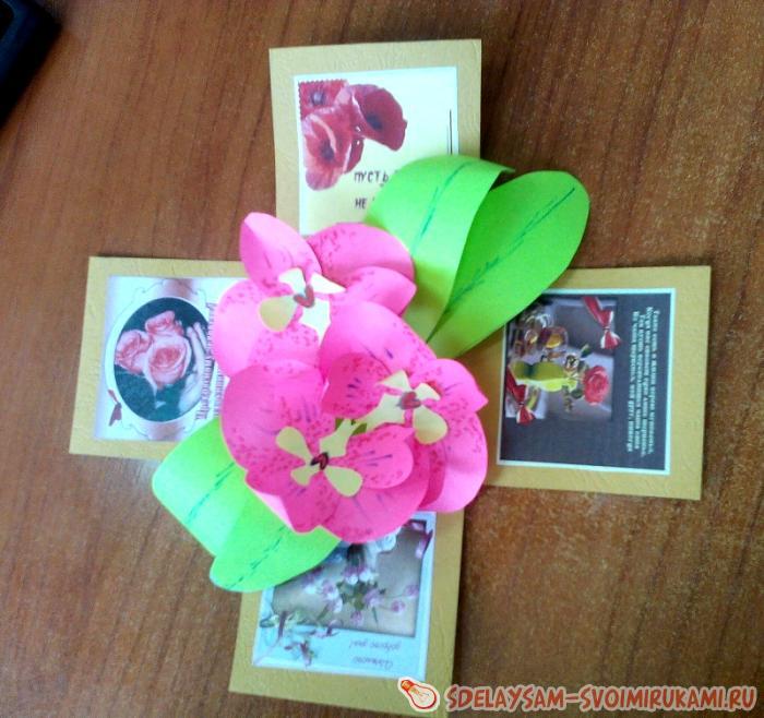 Коробочка с сюрпризом орхидея