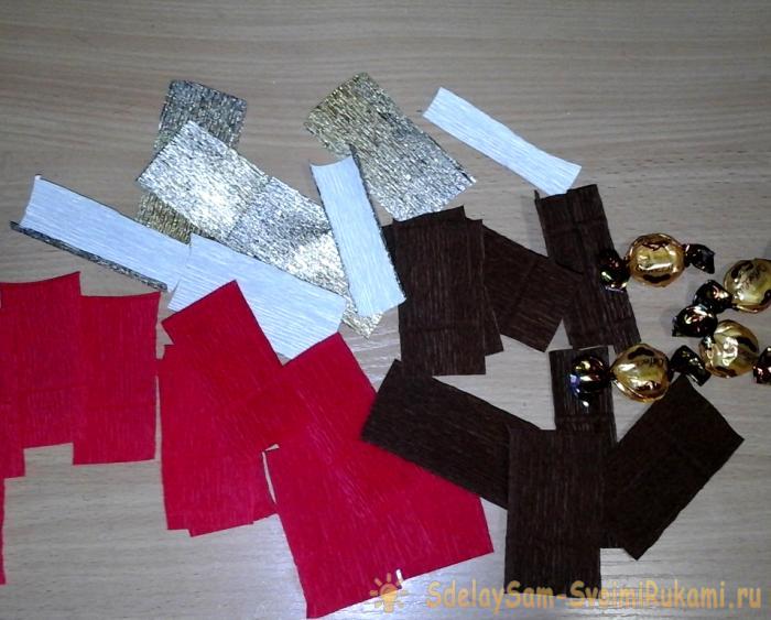Новогодние елочки с конфетами