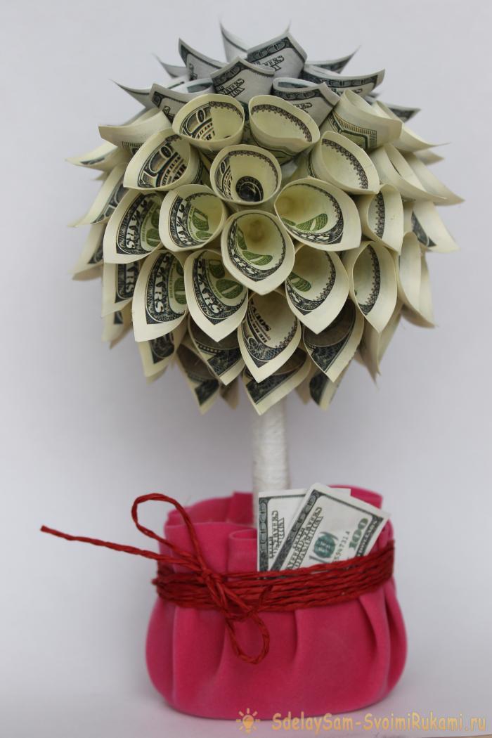 Конфетно денежное дерево своими руками картинки себе реалистичные