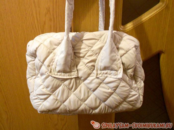 зимняя сумка дутик