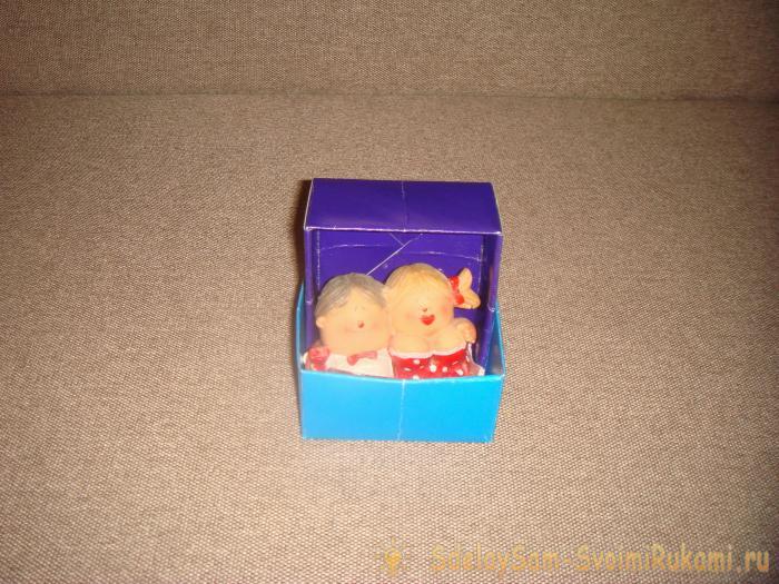Мини-коробочка из картона