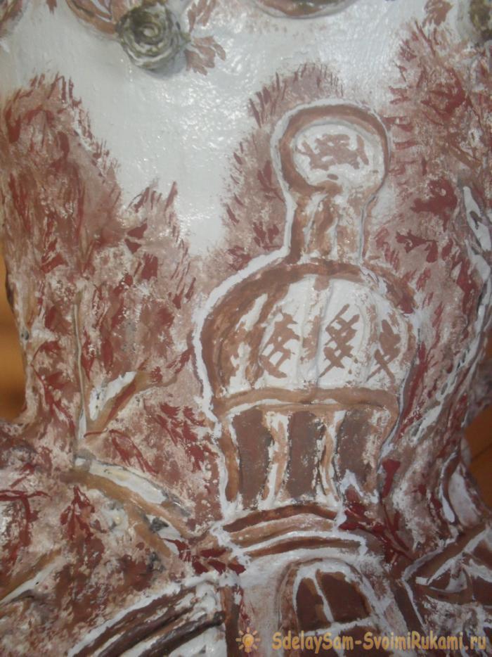 декор верха и низа вазы
