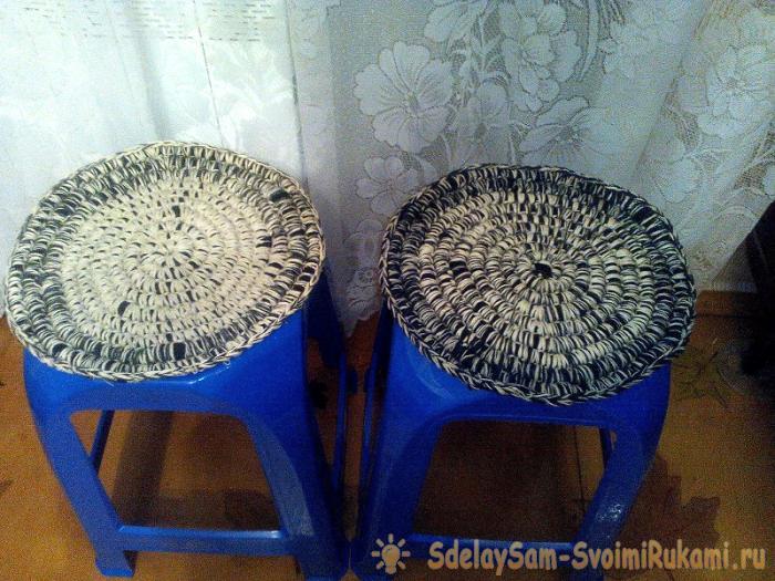 Мягкий коврик-сиденье на табурет