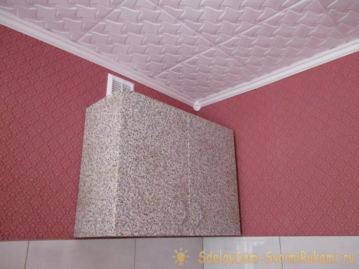 How to glue the kitchen cupboard with self-adhesive