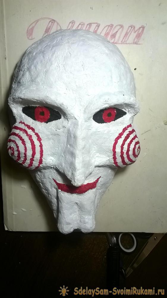 Изготовление маски из папье маше