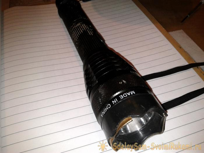How to disassemble a flashlight shocker