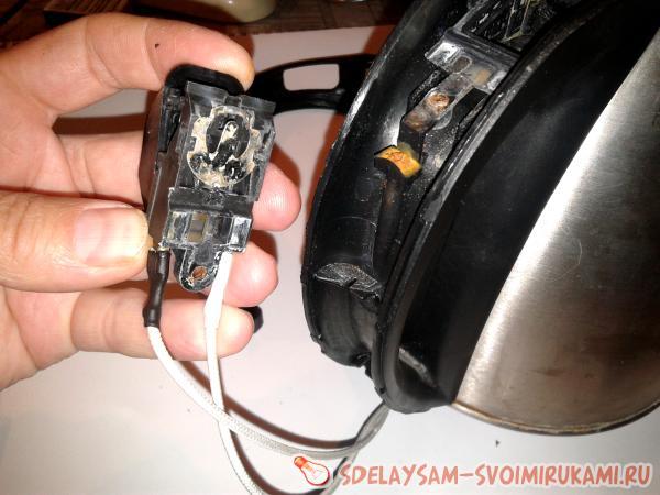 Repair of electric kettle
