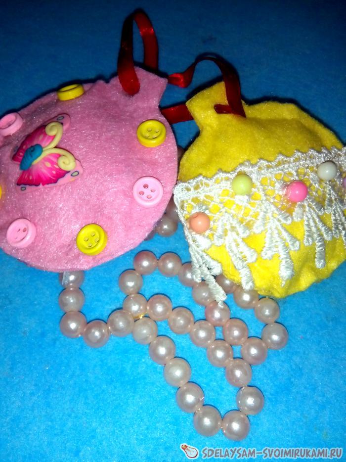 Елочные игрушки на елку из вискозной салфетки