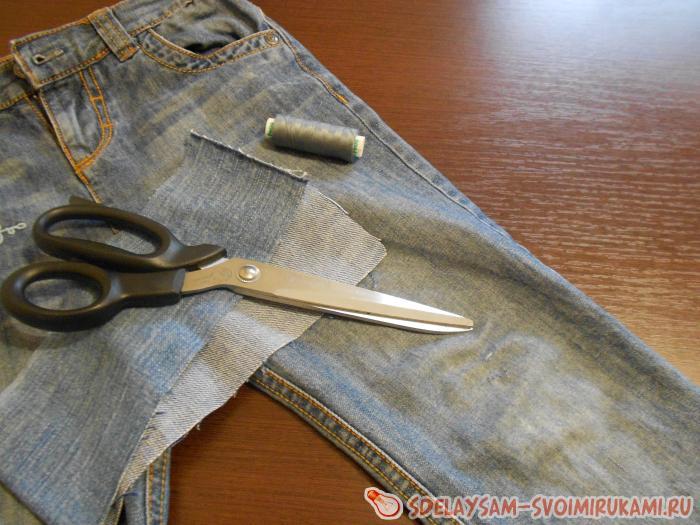 Как зашивать дырки на коленке джинсов, нюансы процесса