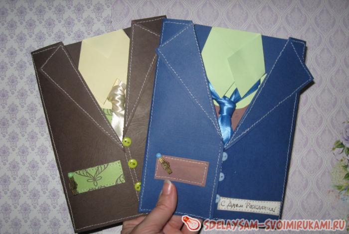 Postcards for men of unusual shape