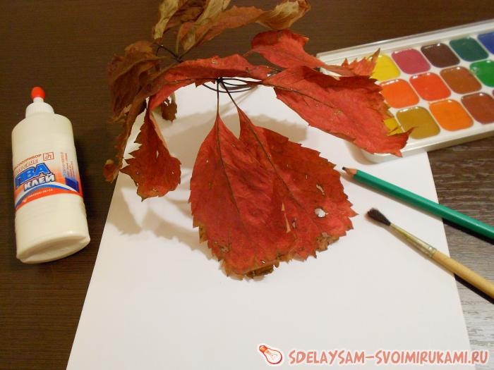 handicraft autumn tree