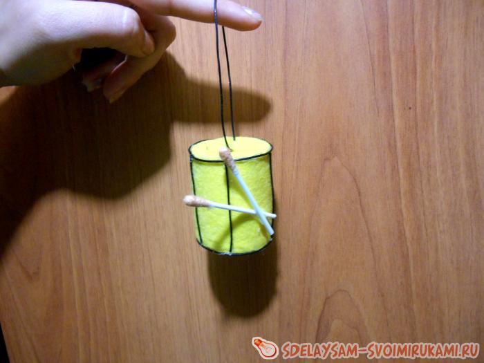 Создание новогодней игрушки «Барабан»