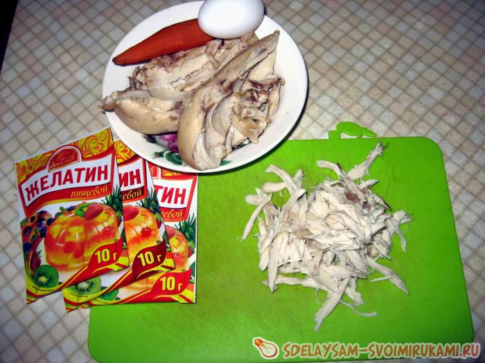 """Заливное """"Медуза"""" с ветчиной – кулинарный рецепт"""