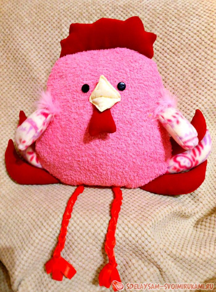 Шьем симпатичную подушку «Петушок» – Ярмарка Мастеров