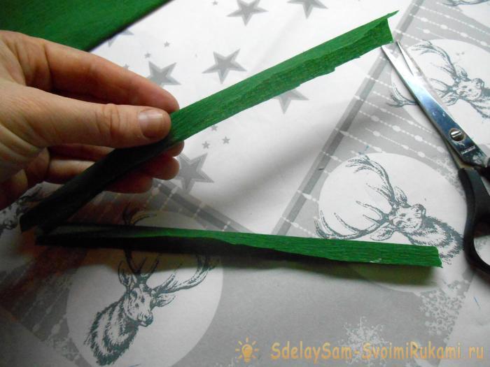 Букет крокусов из гофрированной бумаги