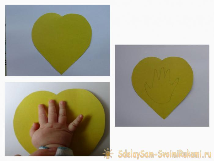 Postcard A heart with a baby hand