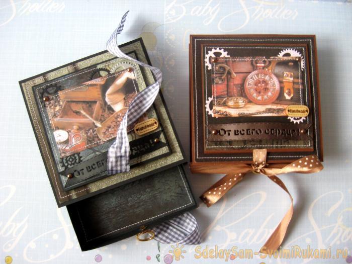 Мужские подарочные коробочки к 23 февраля